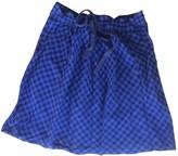 Les Petites Blue Cotton Skirt for Women