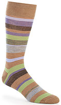 Daniel Cremieux Multi Stripe Crew Dress Socks