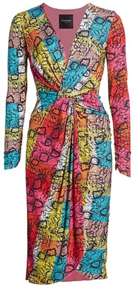 le superbe Rain-Boa Snake-Print Dress