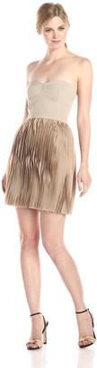 BCBGMAXAZRIA Azria Women's Angel The Strapless Pleated Skirt Dress