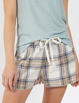 Fat Face Grey Check Pyjama Shorts