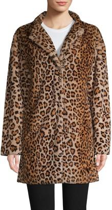 Sanctuary Leopard-Print Faux Fur Coat