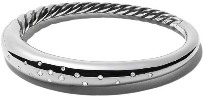 David Yurman Pure Form smooth diamond bangle