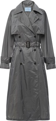 Prada Double-Breasted Belted Trench Coat