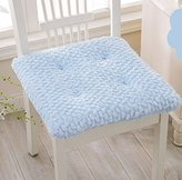 Soft Plush Seat Cushions Chair Pad with 17x17-inch (blue)