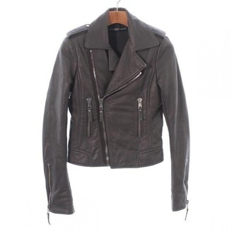 Balenciaga Grey Leather Jacket for Women