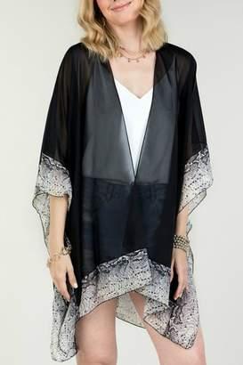 Couture Natasha Fashion Black Snake-Print Kimono