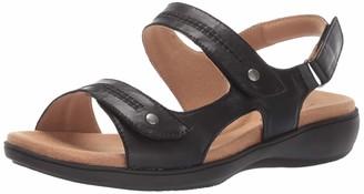 Trotters Women's Venice Sandal Black 7.0 2W US