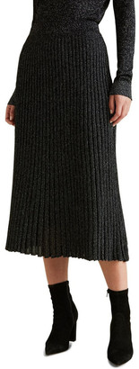 Seed Heritage Metallic Knit Skirt