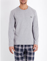HUGO BOSS Crewneck jersey pyjama top