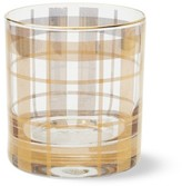 Williams-Sonoma Williams Sonoma Gold Tartan Double Old-Fashioned Glass