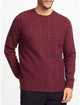 John Lewis Cable Knit Crew Jumper