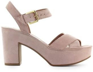 L'Autre Chose Lautre Chose Light Pink Suede Sandal