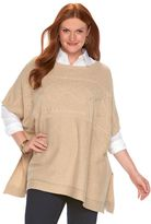 Chaps Plus Size Cable-Knit Sweater Poncho