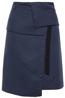 Vanessa Bruno Grosgrain-trimmed Woven Mini Wrap Skirt