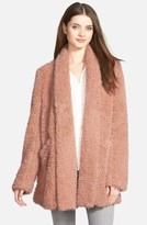 Kenneth Cole New York Women's 'Teddy Bear' Faux Fur Clutch Coat