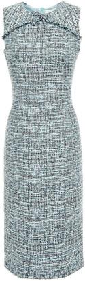 Goat Jessica Bow-embellished Frayed Tweed Dress