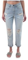Alexander Wang Women's Cult Cropped Straight Jean in Bleach