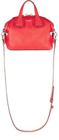 Givenchy Micro Nightingale Shoulder Bag In Red Textured-leather - one size