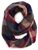 BP Women's Brushed Plaid Infinity Scarf