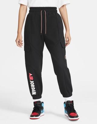 Jordan Nike Urban MTN fleece cuffed sweatpants in black