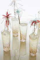 Anthropologie Champagne Bubbles Highball Glass Set