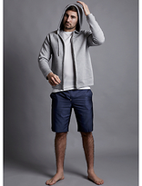 Hamilton And Hare Made In England Blue Chip Cotton Lounge Shorts, Navy