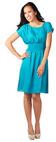 As Is CV by Cynthia Vincent Knee Length Smocked Waist Woven Dress