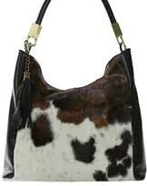 NOVARA Shoulder Bag Exclusive Italian Leather / Pony Hide Carelli Italia, with Cow Print