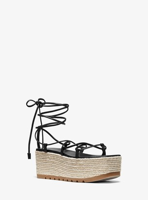 Michael Kors Mabal Leather Flatform Sandal