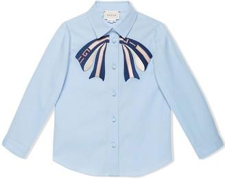 Gucci Kids bow-tie shirt