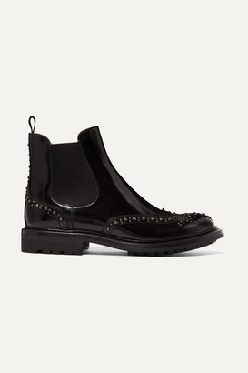 Church's Aura Met Studded Glossed-leather Chelsea Boots - Black