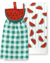 Celebrate Summer Together Watermelon Tie-Top Kitchen Towel 2-pk.