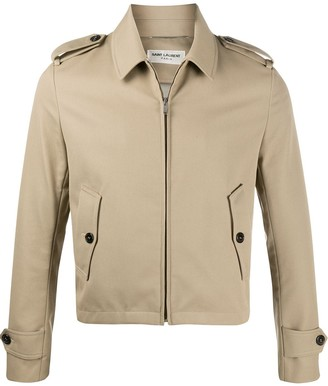 Saint Laurent zip-up shirt jacket