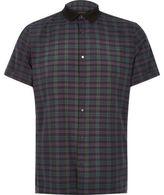 River Island MensGreen check contrast slim fit shirt