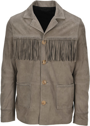 Amiri Fringed Leather Jacket