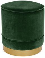 Kim Salmela Piper Stool - Emerald Velvet frame, brass; upholstery, emerald