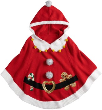 It's Our Time Girls 7-16 Hooded Christmas Poncho