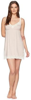 Eberjey Lady Godiva Chemise (Pink Clay/Off-White) Women's Pajama