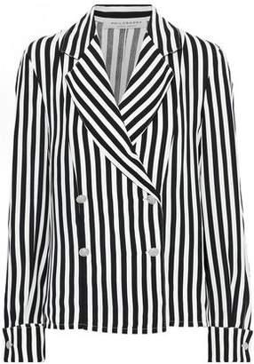 Philosophy di Lorenzo Serafini Double-breasted Striped Crepe Blazer