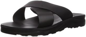 Jerusalem Sandals Men's Elan Molded Footbed Slide Sandal Brown 40 Medium EU (7-7.5 US)