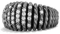David Yurman 13mm Tempo Pave White Diamond Ring