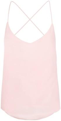 Modallica Liz Baby Pink 100% Organic Gots Certified Peace Silk Top With Open Back