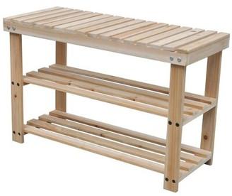 East Urban Home Mcclure Wood Shoe Storage Bench