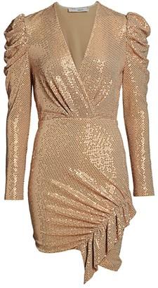 IRO Loulou Metallic Wrap Dress