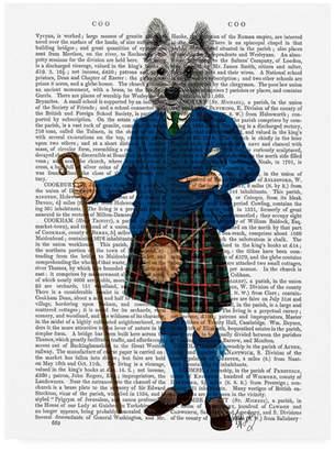 "Fab Funky West Highland Terrier in Kilt Canvas Art - 15.5"" x 21"""