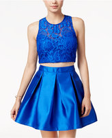 Teeze Me Juniors' Arcadia 2-Pc. Lace A-Line Dress