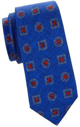 Kiton Layered Geo-Print Silk Tie