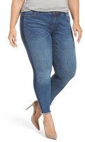 KUT from the Kloth Plus Size Women's Connie Frayed Skinny Ankle Jeans