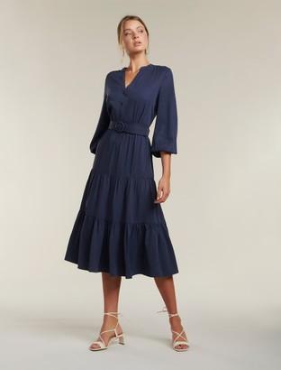 Forever New Alana Tiered Maxi Dress - Dark Harbor - 10
